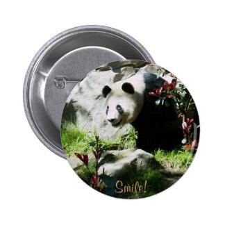 Sorriso da panda! bóton redondo 5.08cm