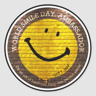 Sorriso Day® do mundo 2016 etiquetas