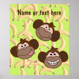 Sorriso de três macacos poster