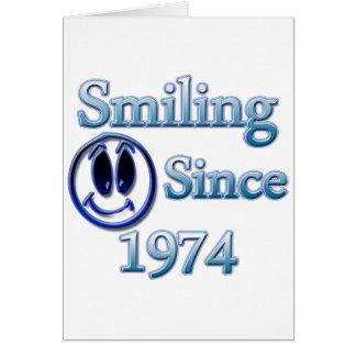 Sorriso desde 1974 cartoes