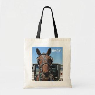 Sorriso do cavalo de Amish! Sacola Tote Budget