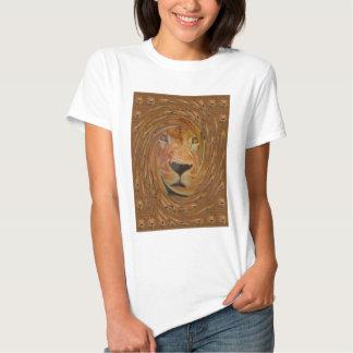 Sorriso do leão t-shirts