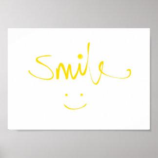 Sorriso do smiley face (poster) poster
