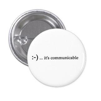 sorriso… é botão comunicável bóton redondo 2.54cm