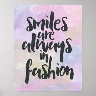 Sorriso em citações da forma pôster