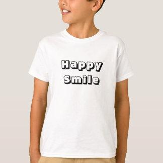 Sorriso feliz - o verão caçoa o t-shirt curto camiseta