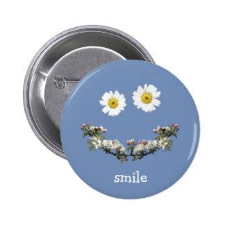 Sorriso floral bóton redondo 5.08cm