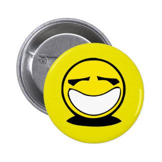 Sorriso grande amarelo do smiley botons