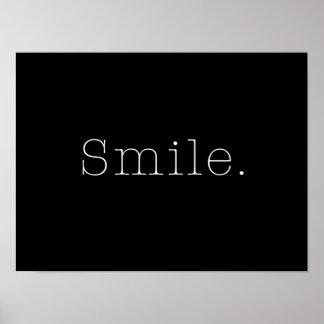 Sorriso. Modelo preto e branco das citações do sor Poster