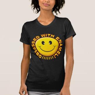 Sorriso obcecado esmalte camisetas