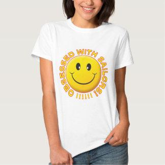 Sorriso obcecado marinheiros camisetas