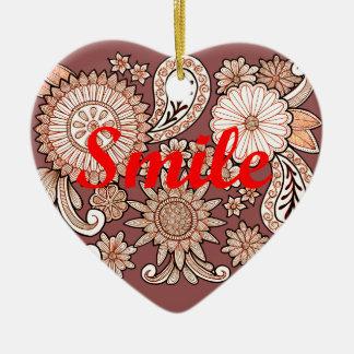 Sorriso Ornamento De Cerâmica Coração
