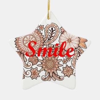Sorriso Ornamento De Cerâmica Estrela