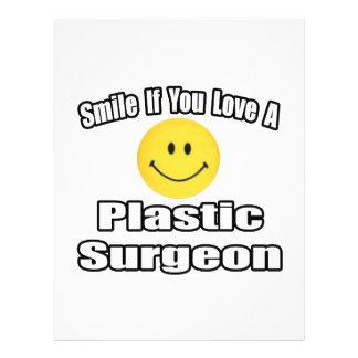 Sorriso se você ama um cirurgião plástico panfleto