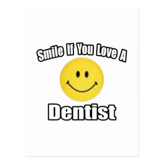 Sorriso se você ama um dentista cartoes postais