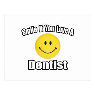 Sorriso se você ama um dentista cartao postal