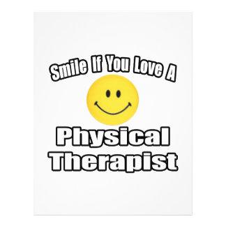 Sorriso se você ama um fisioterapeuta panfletos