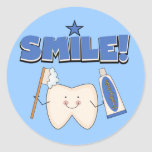 SORRISO - t-shirt e presentes do dente Adesivo
