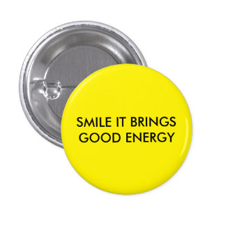 Sorriso traz o bom crachá da energia bóton redondo 2.54cm