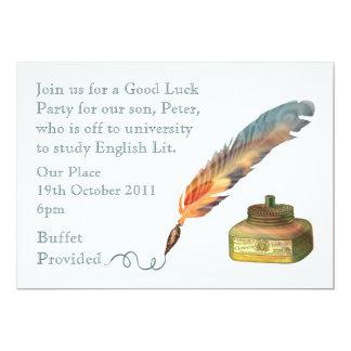 Sorte da caneta da pena boa convites