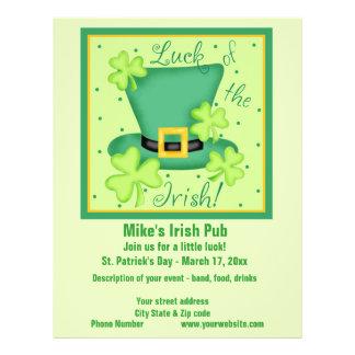 Sorte do costume irlandês da promoção do negócio panfletos personalizados