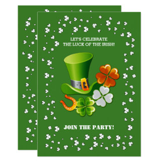 Sorte do irlandês. Convites do dia de St Patrick