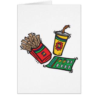 sorteios dos jogos do fast food cartão comemorativo