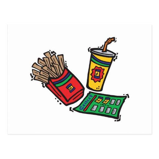sorteios dos jogos do fast food cartoes postais