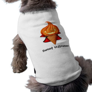 Sorvete da abóbora do vampiro do Dia das Bruxas Camisa Sem Mangas Para Cachorro