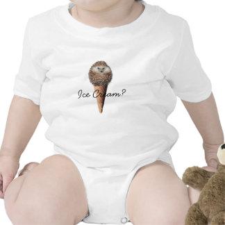 Sorvete do ouriço macacãozinho para bebê
