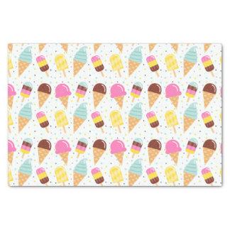 Sorvete e lenço de papel do Popsicle