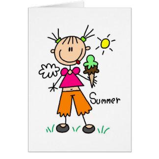 Sorvete em um cartão quente do dia de verão