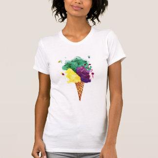 Sorvete legal 3 colheres! Camisa alternativa do