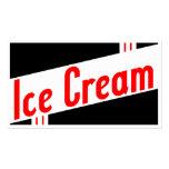 sorvete retro cartoes de visita
