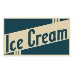 sorvete retro modelo cartões de visita