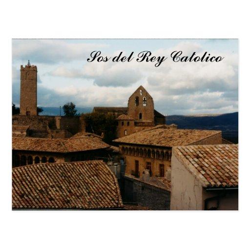 SOS del Rey Católico Cartao Postal