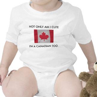 SOU NÃO SOMENTE EU BONITO, mim sou UM CANADENSE Macacões