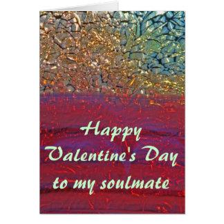 Soulmate feliz do dia dos namorados cartão comemorativo