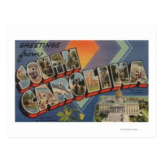 South Carolina (capital de estado/flor) Cartão Postal