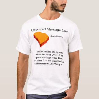South Carolina obscureceu a lei de Marraigr Camiseta