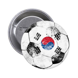 South Korea Distressed Soccer Button