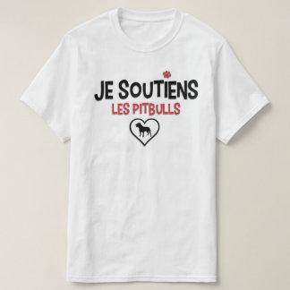 Soutiens Pitbull Quebeque auxiliar Camiseta