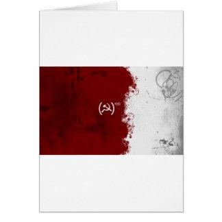 Soviete vermelho abstrato de URSS Cartão Comemorativo