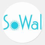 SoWal o Condado de Walton sul com Sun Adesivo Em Formato Redondo