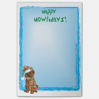 Spaniel de água irlandesa feliz de Howlidays Post-it Notes