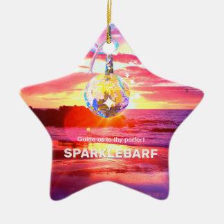 Sparklebarf Ornamento De Cerâmica
