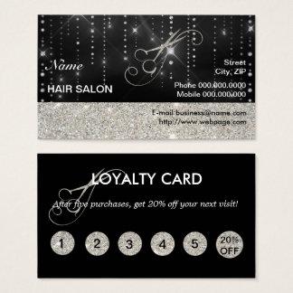 Sparkles & cartão de negócios elegantes do salão
