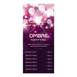 Sparkles cor-de-rosa do brilho - menu da lista do 10.16 x 22.86cm panfleto