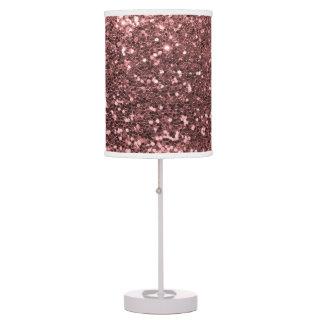 Sparkles cor-de-rosa do impressão do brilho do luminária de mesa