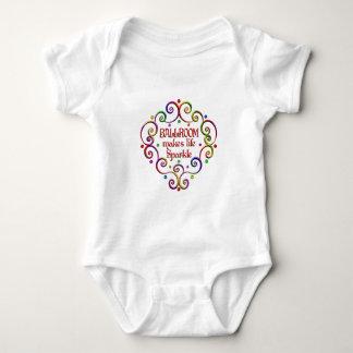 Sparkles do salão de baile body para bebê